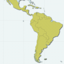Map of Latin America and Caribbean