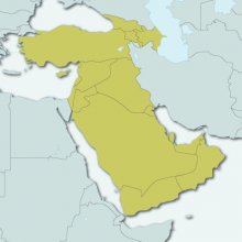 Map of Western Asia